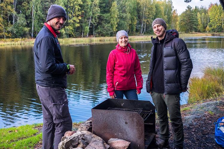 Wir beim Trekking am Sörmlandsleden in Schweden