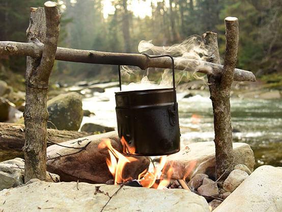 Trekkingtour für Genießer mit Lagerfeuerkochen