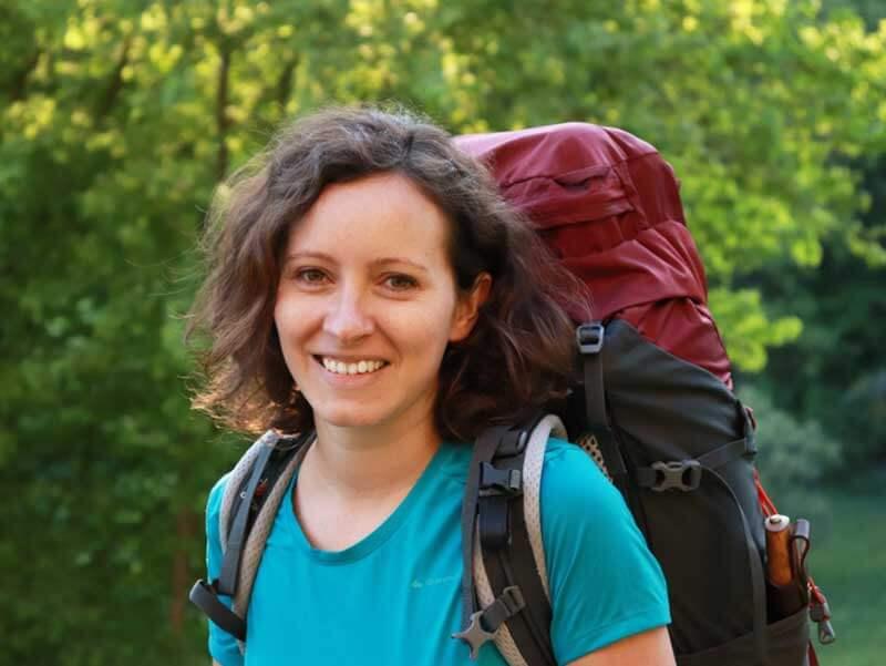 Ulrike Schoch beim Trekken