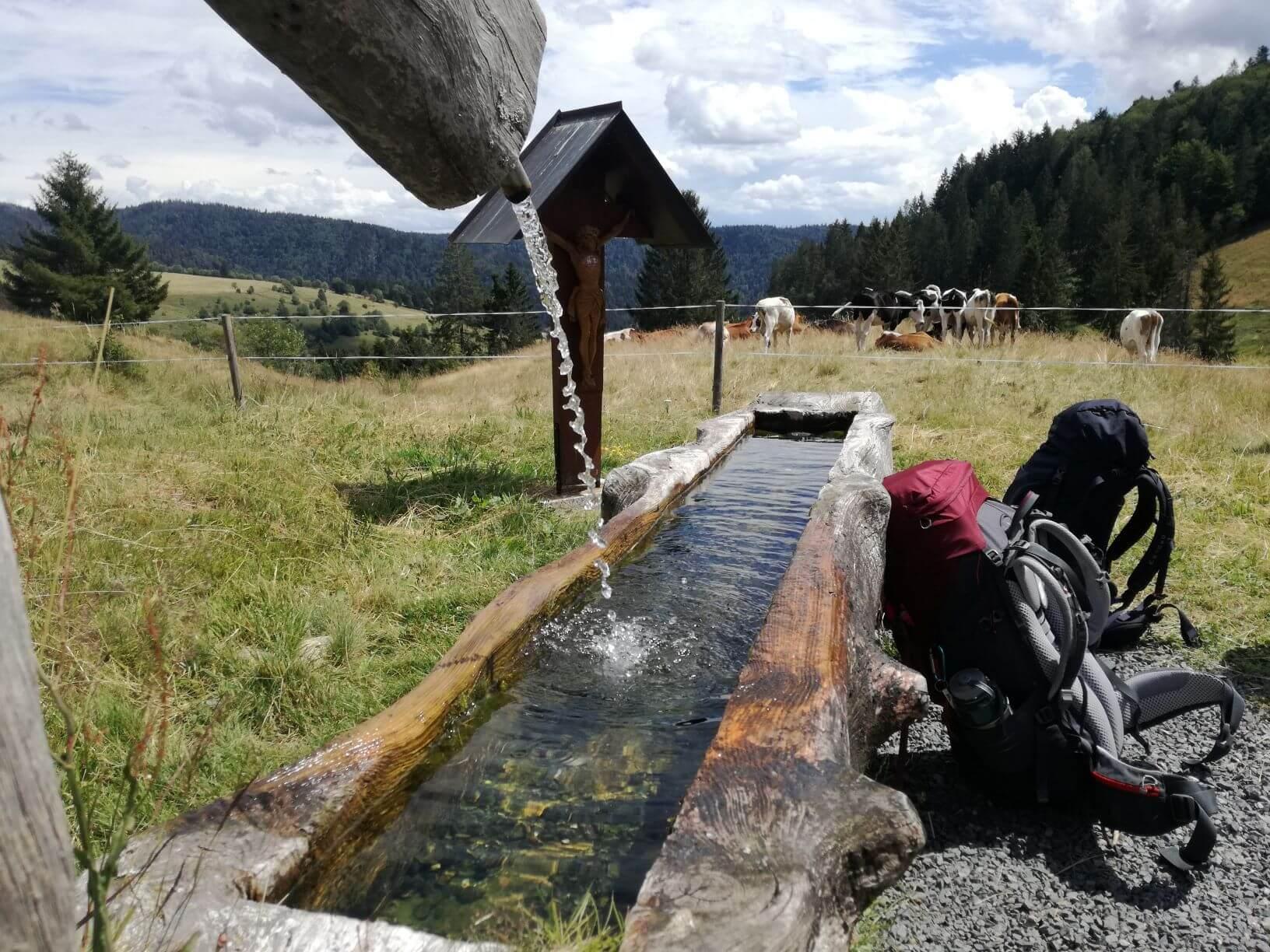 Erfrischende Quelle unterwegs auf der Trekkingtour