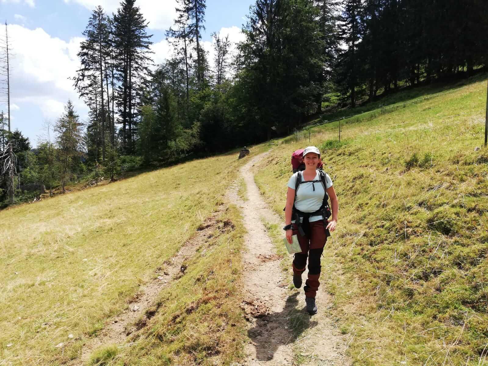 Guide beim Trekkingtraining im Schwarzwald